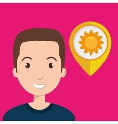 man pin travel location vector image