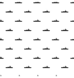 Military navy ship pattern simple style vector image