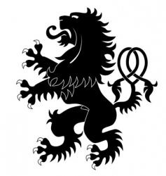silhouette of heraldic lion 3 vector image
