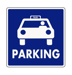 Taxi parking sign vector image vector image