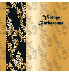 Vintage background with classic floral ornaments vector image