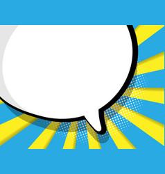 Abstract blank speech bubble comic book vector