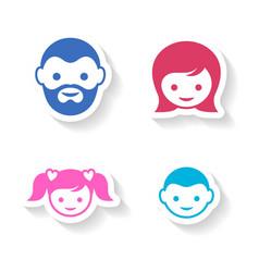 Family members vector image