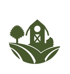 farm barn icon vector image