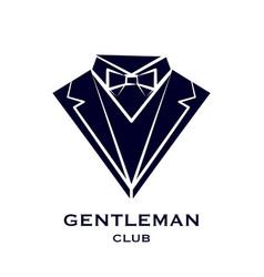 getleman club logo vector image vector image