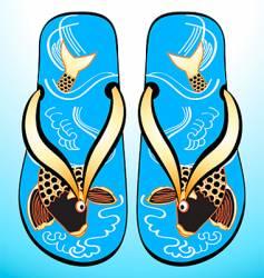 Japanese geta sandals vector image vector image