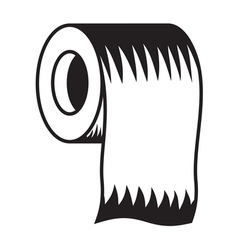 Toilet paper icon5 resize vector image vector image