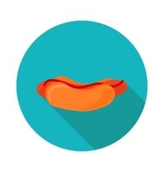 flat icon hotdog vector image