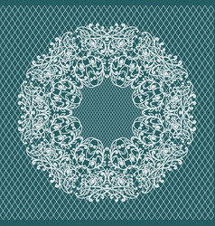 lace invitation card wedding or greeting card vector image