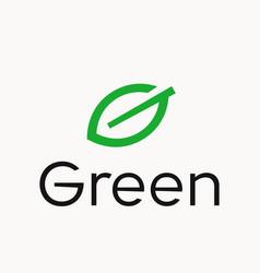 leaf letter g logo vector image vector image