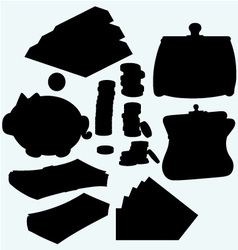 Set of valuable things vector image