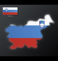 Slovenia map vector image vector image