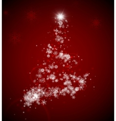 Christmas tree from snowflakes vector image vector image