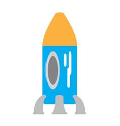 colored rocket ship toy icon vector image