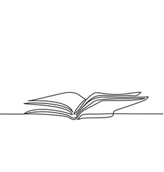 opened book with pages isolated on white vector image