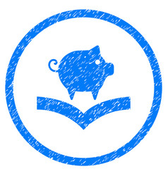 Pig knowledge rounded grainy icon vector