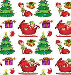 Seamless christmas wrapping vector image