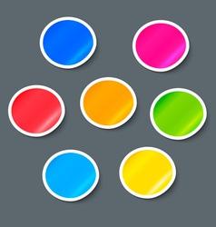 Stickers Label Design Elements Set vector image