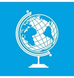 White earth globe vector image