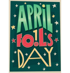 1 April Fools Day poster vector image