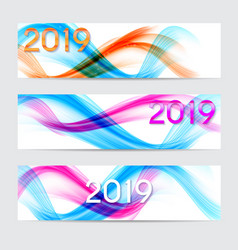 2019 abstract of new year on vector image