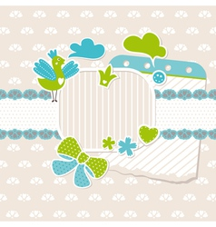 abstract cute baby frame design elements vector image