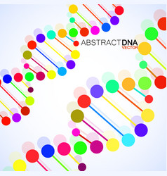 Abstract spiral of dna stylish molecule vector