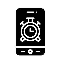 Alarm clock app icon mobile application vector