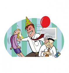bad office party vector image