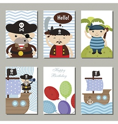 Birthday cards vector