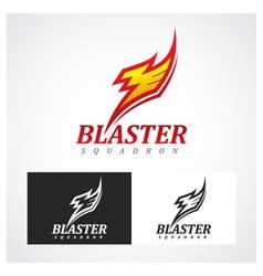 Blaster Squadron Symbol vector image