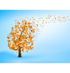 Blue orange abstract tree vector image