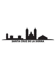 Bolivia santa cruz de la sierra city skyline vector