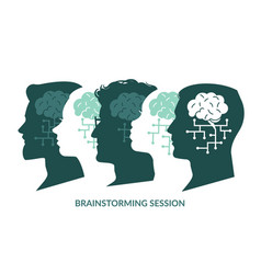 brain system brainstorming session cyberbrain vector image