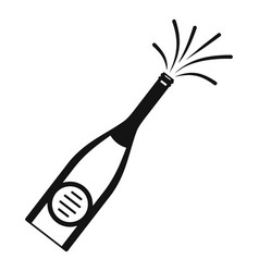 bubble champagne icon simple style vector image