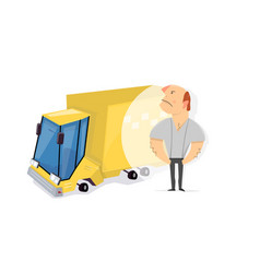 Cargo delivery service profession driver vector