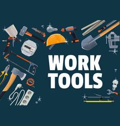 construction repair and diy work tools vector image