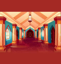 corridor castle or historical hotel palace vector image