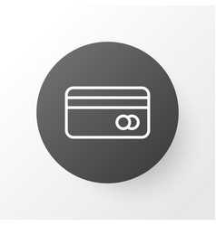 credit card icon symbol premium quality isolated vector image