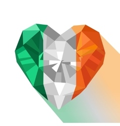 crystal Irish flag Saint Patrick Day vector image