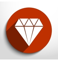 diamond web icon vector image