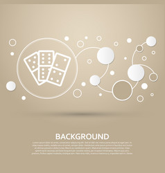domino icon on a brown background with elegant vector image