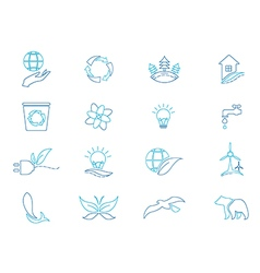 Eco icon set Environment vector