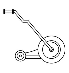 electric grass cutter icon outline style vector image