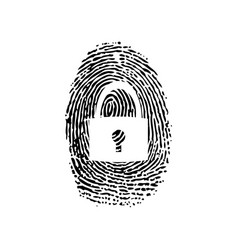 fingerprint security background vector image
