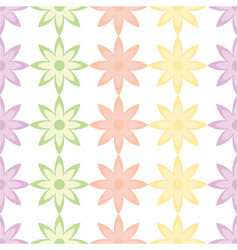 Flower and petals seamless design background vector