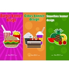 Food banner design vector