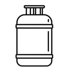 Gas cylinder lpg icon outline style vector