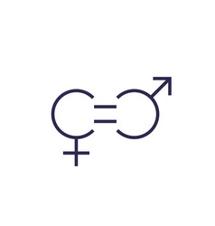 Gender equity icon line vector