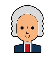 George washington character comic vector